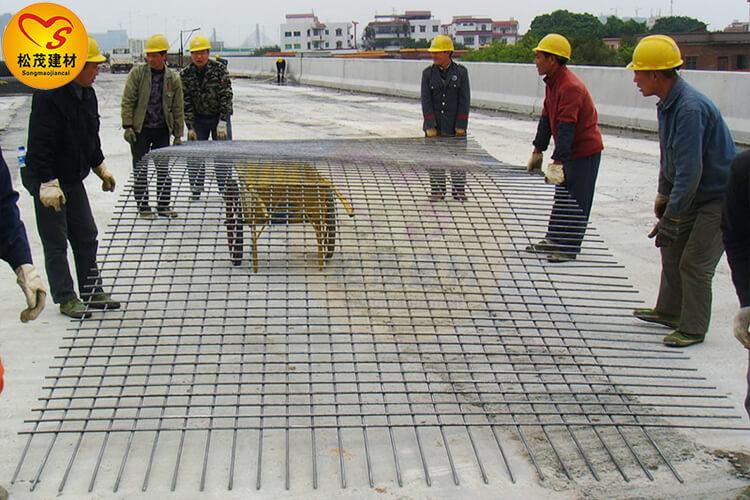 建筑钢筋网片使用现场